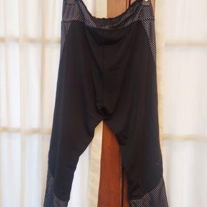 Cascade Blue Black/White Athletic Leggings Size XL